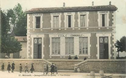 """CPA FRANCE 34 """"Jonquières la Jolie, les Ecoles"""""""