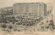 """83 Var CPA FRANCE 83 """"Hyères, Hotel des Palmiers"""" / RARE dessin"""