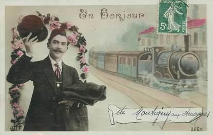 "CPA FRANCE 58 ""Montigny aux Amognes"" / TRAIN"