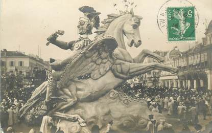 "CARTE PHOTO FRANCE 06 ""Nice, le carnaval , sa Majesté Carnaval 1914"""