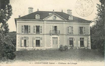 "CPA FRANCE 38 ""Chantesse, chateau de Linage"""