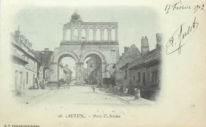 "CPA FRANCE 71 ""Autun, porte d'Arroux"""