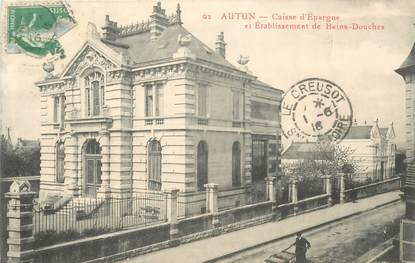 "CPA FRANCE 71 ""Autun, banque caisse d'epargne"""