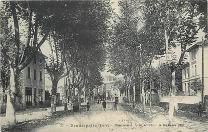 """/ CPA FRANCE 38 """"Beaurepaire, bld de la gare"""""""