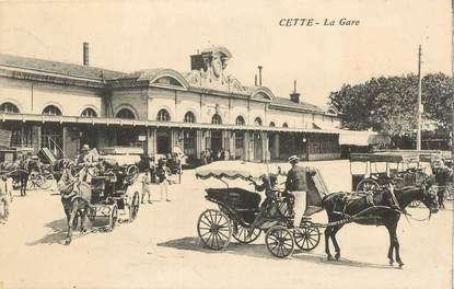 """CPA FRANCE 34 """"Cette, la gare"""""""