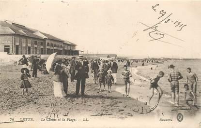 """CPA FRANCE 34 """"Cette, le casino et la plage"""""""
