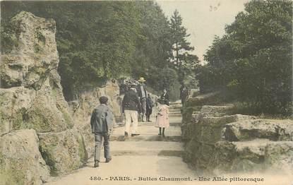 """CPA FRANCE 75019 """"Paris, les Buttes Chaumont"""""""