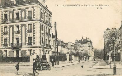 """CPA FRANCE 94 """"Saint Maurice, la rue du Plateau"""""""