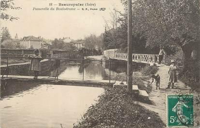 """/ CPA FRANCE 38 """"Beaurepaire, passerelle du boulodrome"""""""