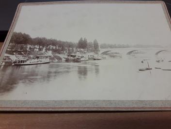 "PHOTO FRANCE 94 ""Charenton, 1896"" / PENICHE / BATELLERIE"