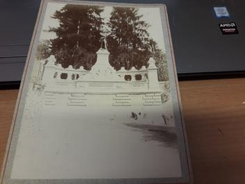 "PHOTO FRANCE 92 ""Ville d'Avray, Monument Gambetta, 1895"""
