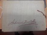 Vieux Papier RARE LOT 60 PLANCHES dans chemise en tissu sur le compositeur Tchèque DVORAK Antonin (1841/1904), directeur du conservatoire de New York et de Prague / MUSIQUE