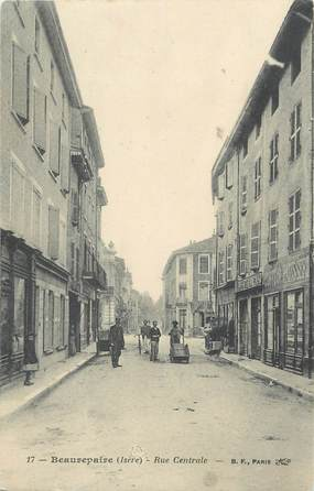 "/ CPA FRANCE 38 ""Beaurepaire, rue centrale"""