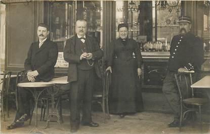 CARTE PHOTO FRANCE NON SITUÉE / PARIS?? / CAFÉ / COMMERCE