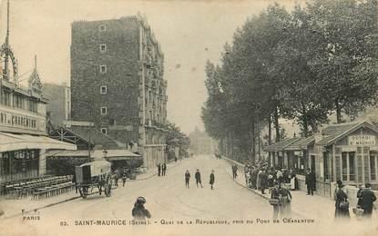 """CPA FRANCE 94 """"Saint Maurice, quai de la République"""""""