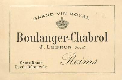 "CPA / PETIT PAPIER FRANCE 51 ""Reims, Vin Royal BOULANGER CHABROL"""