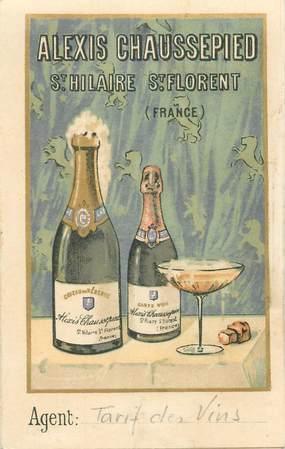"""CPA LIVRET / PETIT PAPIER FRANCE 49 """"Saint Hilaire Saint Florent"""" / ALCOOL / BOISSON"""