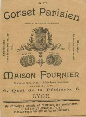 """CPA LIVRET CATALOGUE / PETIT PAPIER FRANCE 69 """"Lyon, Maison FOURNIER, Corset"""""""