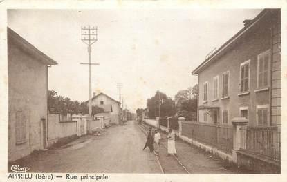 """/ CPA FRANCE 38 """"Apprieu, rue principale"""""""