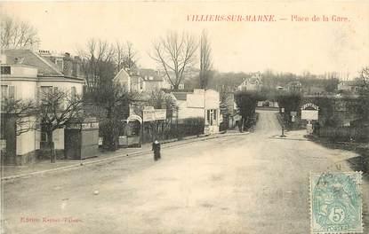 """CPA FRANCE 94 """"Villiers sur Marne, place de la gare"""""""