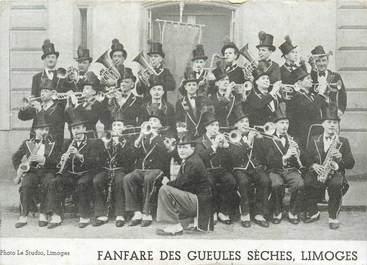"""CPA / PETIT PAPIER FRANCE 87 """"Limoges, Fanfare des Gueules Sèches"""" / PUBLICITE DROGUERIE"""