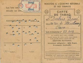 """CPA / PETIT PAPIER FRANCE 14 """"Caen, Carte de Tabac"""""""