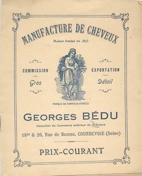 """CPA / PETIT PAPIER LIVRET FRANCE 92 """"Manufacture de Cheveux, Courbevoie"""""""