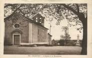 """38 Isere / CPA FRANCE 38 """"Charvieu, l'église et le monument"""""""