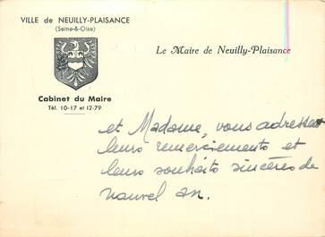 """CPA / PETIT PAPIER FRANCE 93 """"Neuilly Plaisance, le cabinet du Maire"""""""