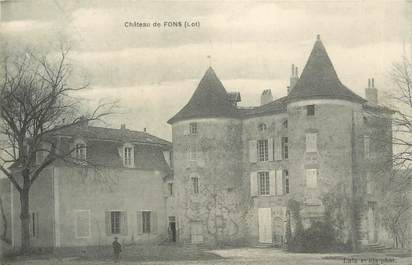 "CPA FRANCE 46 ""Fons, le Chateau"""
