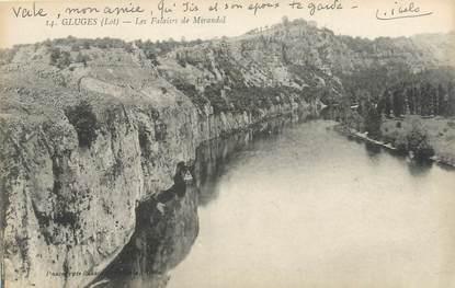 """CPA FRANCE 46 """"Gluges, les Falaises"""""""