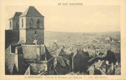 """CPA FRANCE 46 """"Goudron, vue de la Terrasse du Chateau"""""""