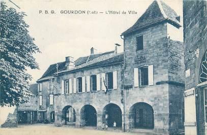 """CPA FRANCE 46 """"Goudron, l'Hotel de Ville"""""""