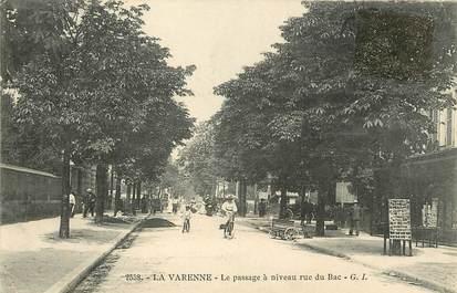 """CPA FRANCE 94 """"La Varenne, le passage à niveau, rue du Bac"""""""