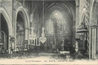"""CPA FRANCE 46 """"Martel, intérieur de l'Eglise"""""""