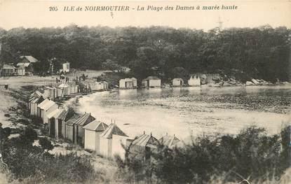 """CPA FRANCE 85 'Ile de Noirmoutier, Plage des Dames à marée haute"""""""