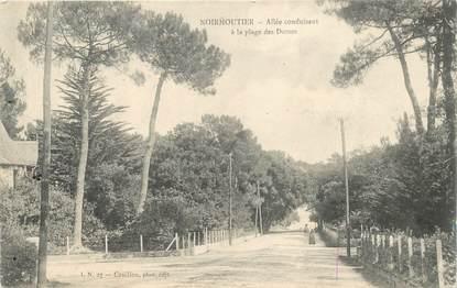 """CPA FRANCE 85 'Ile de Noirmoutier, allée conduisant à la plage des Dames"""""""