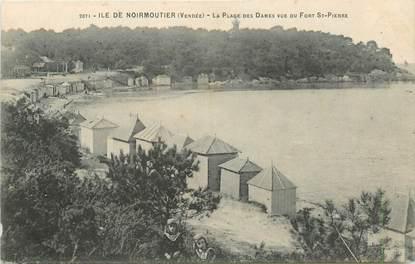 """CPA FRANCE 85 'Ile de Noirmoutier, plage des Dames vu du Fort Saint Pierre"""""""