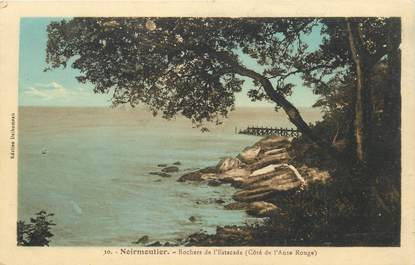"""CPA FRANCE 85 'Ile de Noirmoutier, Rochers de l'Estacade"""""""