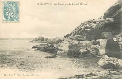 """CPA FRANCE 85 'Ile de Noirmoutier, les Rochers près de la Grotte Saint Philibert"""""""