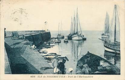 """CPA FRANCE 85 'Ile de Noirmoutier, le Port de l'Herbaudière"""""""