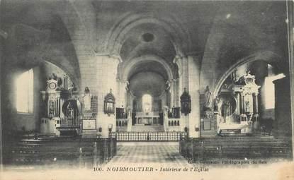 """CPA FRANCE 85 'Ile de Noirmoutier, Interieur de l'Eglise"""""""