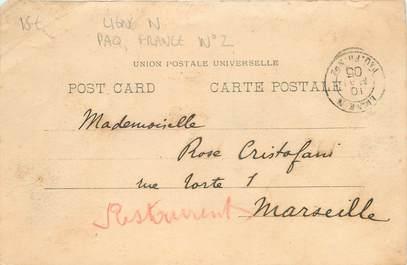 MARCOPHILIE POSTE MARITIME sur CPA EGYPTE / LIGNE N, PAQUEBOT FRANCE N°2