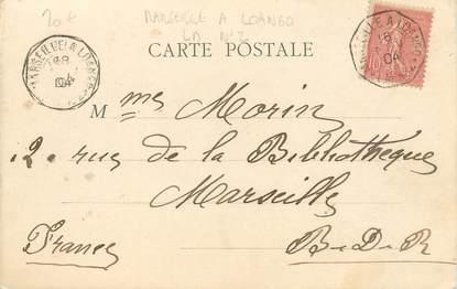 MARCOPHILIE POSTE MARITIME sur CPA Conakry / Marseille à Loango / LM N°2