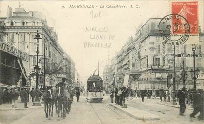 """MARCOPHILIE POSTE MARITIME sur CPA FRANCE """"Marseille"""" / Ajaccio Ligne de Marseille"""