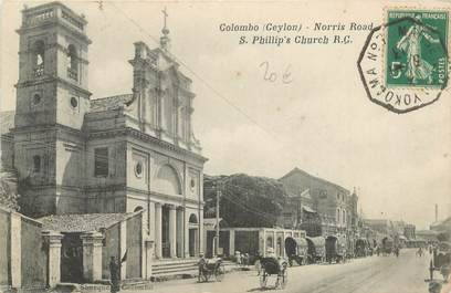 """MARCOPHILIE POSTE MARITIME sur CPA CEYLAN """"Colombo"""""""