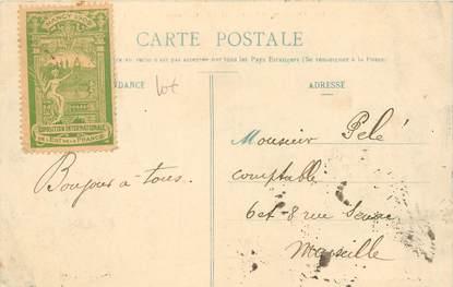 """MARCOPHILIE VIGNETTE sur CPA FRANCE 54 """"Nancy"""" / Exposition Internationale 1909"""