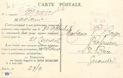 """MARCOPHILIE / LE BON MARCHE sur CPA FRANCE 75 """"Paris"""""""