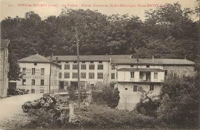 """/ CPA FRANCE 38 """"Pont en Royans, usine Mayet frères"""""""