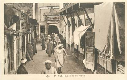 "CPA MAROC ""Fès, la grande rue du Mellah"" / JUDAICA"